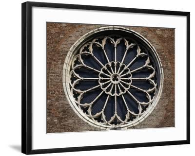 Rose Window of Church of San Francesco, Mantua, Lombardy, Italy--Framed Giclee Print