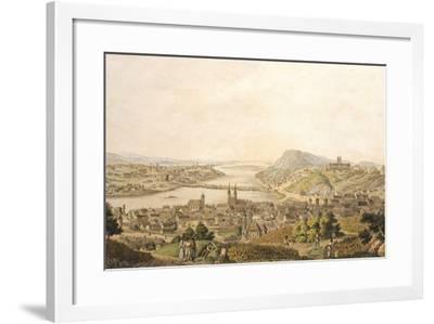 View of Budapest, Hungary 19th Century Print--Framed Giclee Print