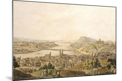 View of Budapest, Hungary 19th Century Print--Mounted Giclee Print