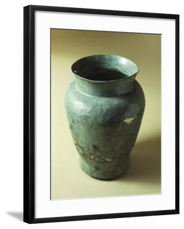 Bronze Situla with Funeral Objects, from Emilia Romagna Region--Framed Giclee Print