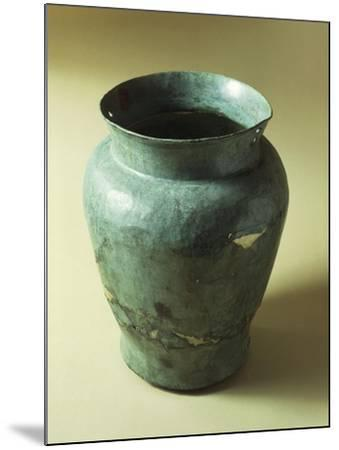 Bronze Situla with Funeral Objects, from Emilia Romagna Region--Mounted Giclee Print