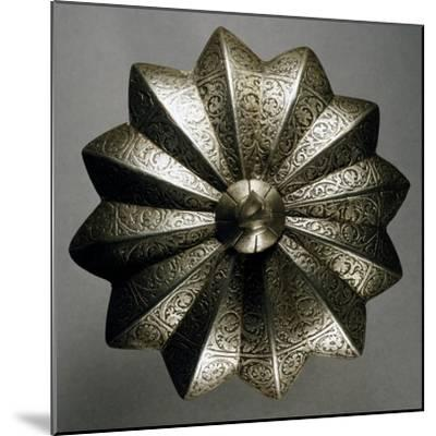 Shield Boss in Steel Decorated with Engravings, Made in Veneto Region in Mid-16th Century, Italy--Mounted Giclee Print