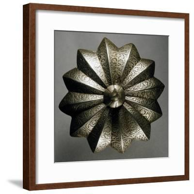 Shield Boss in Steel Decorated with Engravings, Made in Veneto Region in Mid-16th Century, Italy--Framed Giclee Print