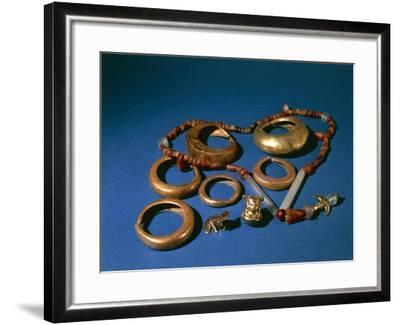 Jewelry in Gold and Copper, Colombia, Tairona Culture--Framed Giclee Print