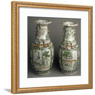 Ceramic Vases with Expanded and Lobed Mouth, China--Framed Giclee Print