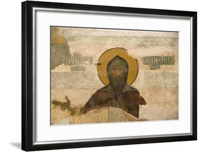 Russia, Yaroslavl, Column Frescos in Cathedral at Monastery of Transfiguration of Savior--Framed Giclee Print