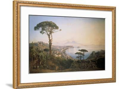 Italy, View of Naples from Posillipo Hill by Ercole Gigante--Framed Giclee Print