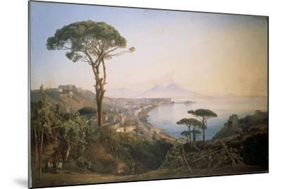 Italy, View of Naples from Posillipo Hill by Ercole Gigante--Mounted Giclee Print