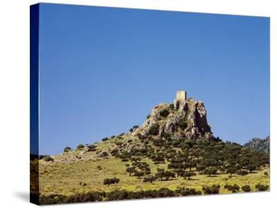Spain, Extremadura, Almorchon, Castle--Stretched Canvas Print