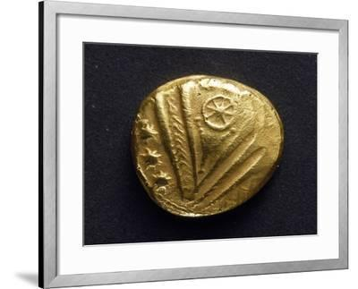 Gold Stater with Big Eye Surrounded by Stars, Recto, from Trier, Germany, Gallic Coins--Framed Giclee Print