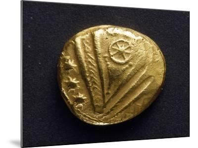 Gold Stater with Big Eye Surrounded by Stars, Recto, from Trier, Germany, Gallic Coins--Mounted Giclee Print