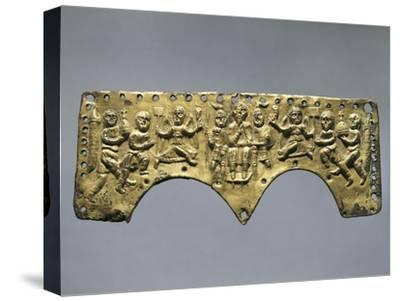 Frontal Decoration of Agilulf's Helmet, Embossed Gold, 7th Century--Stretched Canvas Print