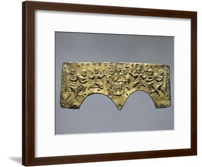 Frontal Decoration of Agilulf's Helmet, Embossed Gold, 7th Century--Framed Giclee Print