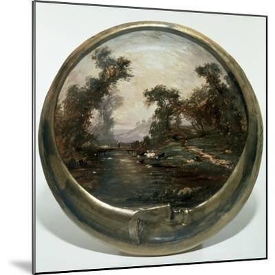 Moon-Shaped Plate with Landscape, 1890, Ceramics--Mounted Giclee Print