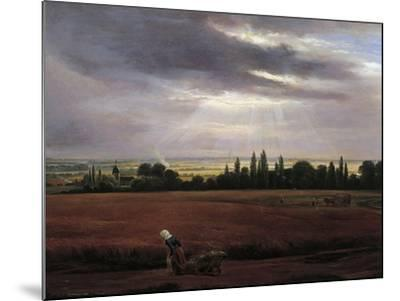 Germany, Painting of Countryside Near Dresden--Mounted Giclee Print