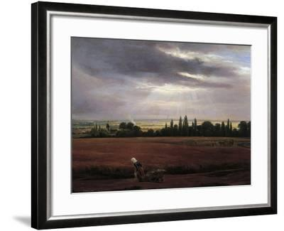 Germany, Painting of Countryside Near Dresden--Framed Giclee Print