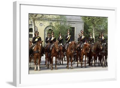 Horse Regiment Military Batteries at Cuirassiers Gala--Framed Giclee Print