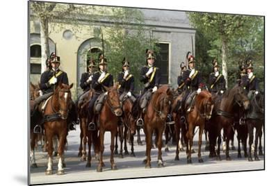 Horse Regiment Military Batteries at Cuirassiers Gala--Mounted Giclee Print