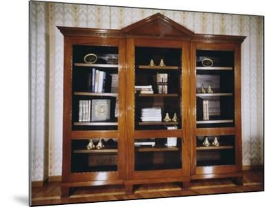 Oak Bookcase with Mahogany Veneer Finish, Circa 1790, France--Mounted Giclee Print