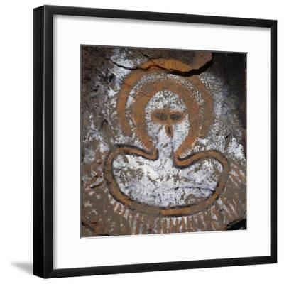 Figure of Spirit, Cave Painting, Kimberley, Western Australia, Australia, Aboriginal Culture--Framed Giclee Print