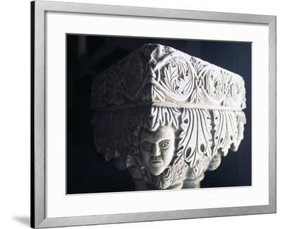 Marble Capital, Collegiate Church of St Mary, Visso, Marche, Italy--Framed Giclee Print