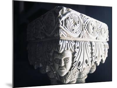 Marble Capital, Collegiate Church of St Mary, Visso, Marche, Italy--Mounted Giclee Print