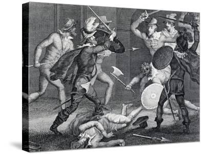 Gunpowder Plot, Plot Designed by Group of English Catholics Against King James I of England--Stretched Canvas Print