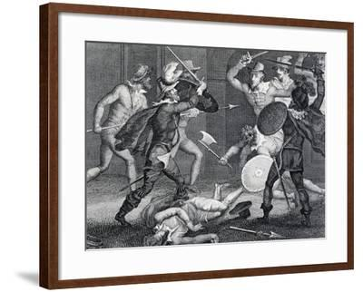 Gunpowder Plot, Plot Designed by Group of English Catholics Against King James I of England--Framed Giclee Print