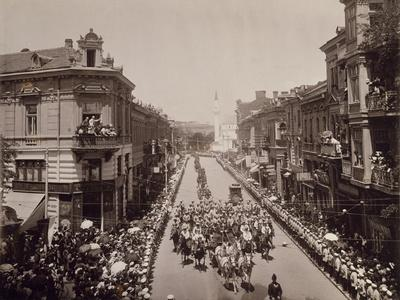 King Charles Ii of Romania Entering Sofia, June 11, 1910, Bulgaria--Framed Giclee Print