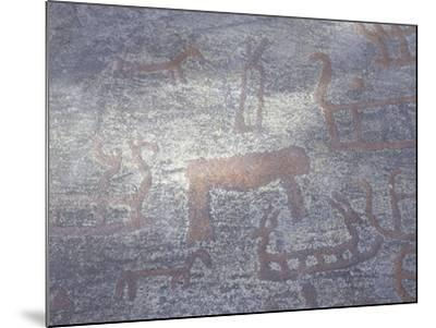 Norway, Kalnes, Rock Carvings from Bronze Age--Mounted Giclee Print