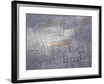 Norway, Kalnes, Rock Carvings from Bronze Age--Framed Giclee Print