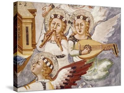 Angels Playing Musical Instrument, Detail from Assumption of the Virgin--Stretched Canvas Print