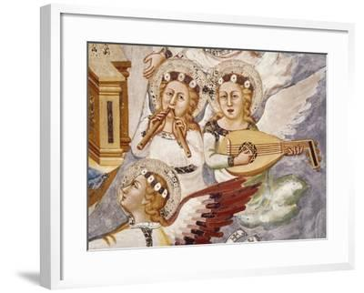 Angels Playing Musical Instrument, Detail from Assumption of the Virgin--Framed Giclee Print