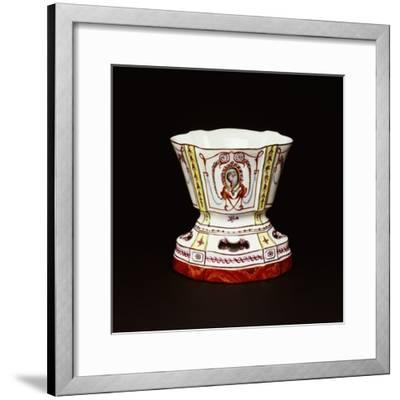 Cup with Polychrome Neoclassical Decorations, Ceramic, Nove Manufacture, Bassano, Veneto, Italy--Framed Giclee Print