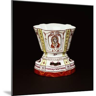 Cup with Polychrome Neoclassical Decorations, Ceramic, Nove Manufacture, Bassano, Veneto, Italy--Mounted Giclee Print