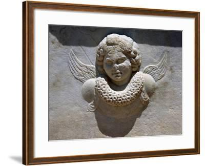Relief of Eros' Bust, Found in Bathrooms of Theatre of Aphrodisias, Turkey--Framed Giclee Print