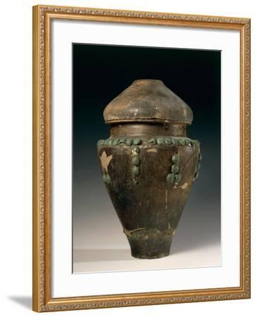Ossuary in Shape of Situla Decorated with Studs, from Este, Italy--Framed Giclee Print