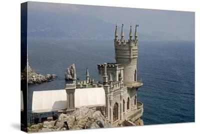 Ukraine, Crimea, Alupka, Surroundings of Yalta, Cape Ai-Todor, on Black Sea, Lastochkino Gnezdo--Stretched Canvas Print