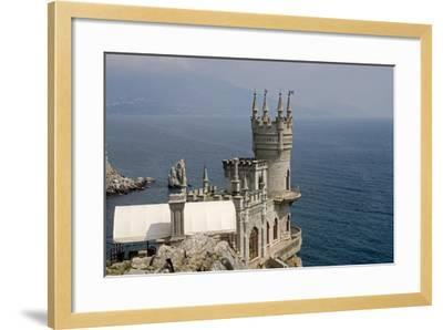 Ukraine, Crimea, Alupka, Surroundings of Yalta, Cape Ai-Todor, on Black Sea, Lastochkino Gnezdo--Framed Giclee Print