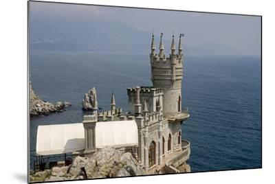 Ukraine, Crimea, Alupka, Surroundings of Yalta, Cape Ai-Todor, on Black Sea, Lastochkino Gnezdo--Mounted Giclee Print