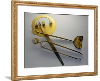 Fireplace Tools, Brass, Italy--Framed Giclee Print