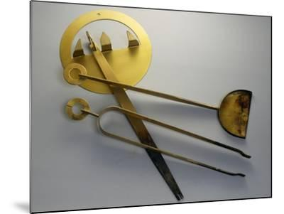 Fireplace Tools, Brass, Italy--Mounted Giclee Print