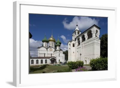 Russia, Suzdal, Transfiguration Cathedral and Gabled Belfry--Framed Giclee Print