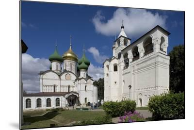 Russia, Suzdal, Transfiguration Cathedral and Gabled Belfry--Mounted Giclee Print