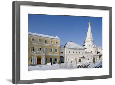 Russia, Church of Saints Zosima and Savvaty with Hospital Facade at Trinity St Sergius Monastery--Framed Giclee Print