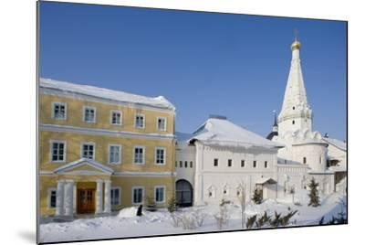 Russia, Church of Saints Zosima and Savvaty with Hospital Facade at Trinity St Sergius Monastery--Mounted Giclee Print