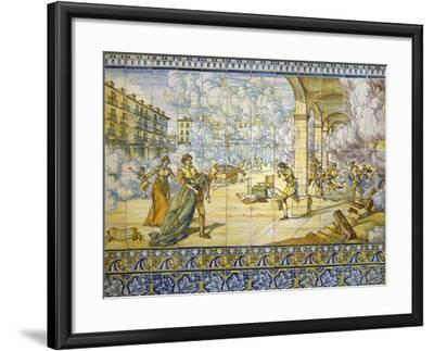 Fire of Valladolid, September 21, 1561, Painted Talavera Tiles--Framed Giclee Print