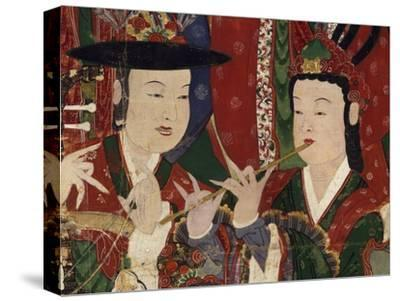 Korea, Suguksa Temple, Painting of Guardian Deities--Stretched Canvas Print