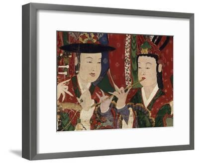 Korea, Suguksa Temple, Painting of Guardian Deities--Framed Giclee Print