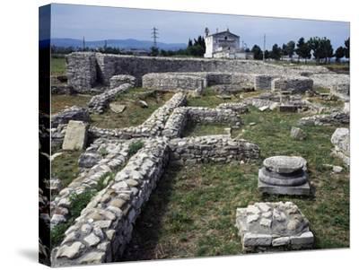 Ruins of the Roman Baths, Venosa, Basilicata, Italy BC--Stretched Canvas Print